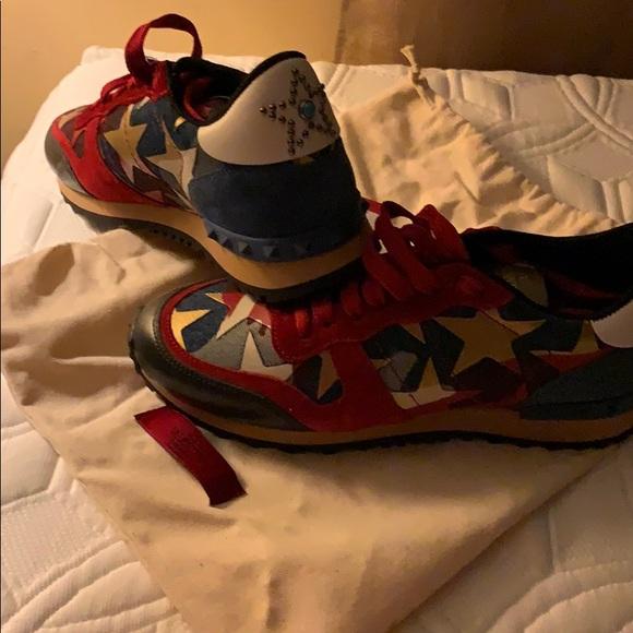 f445b31518e76 Valentino Garavani Shoes | Valentino Rockrunner Starstudded Sneakers ...